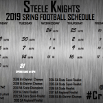 2019 SPRING FOOTBALL SCHEDULE