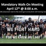 Football Mandatory Walk-On Meeting