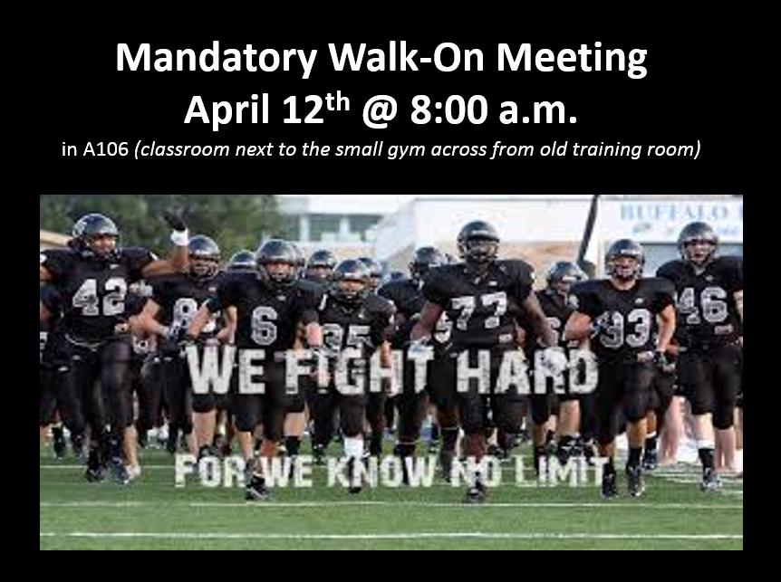 Football Mandatory Walk-On Meeting