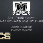 Signing Day – May 13th –  8:00 am
