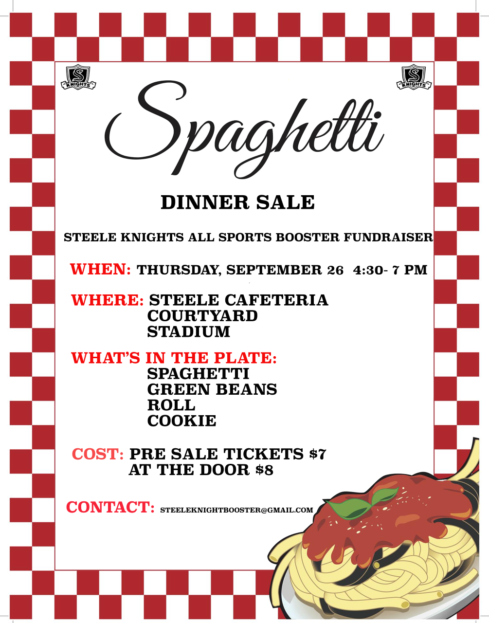 ALL SPORTS BOOSTER FUNDRAISER