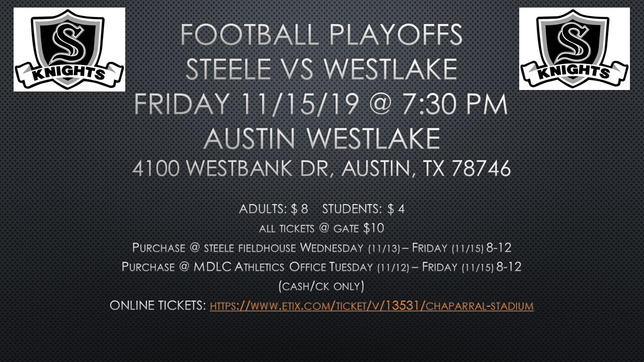 Football Playoff Information!