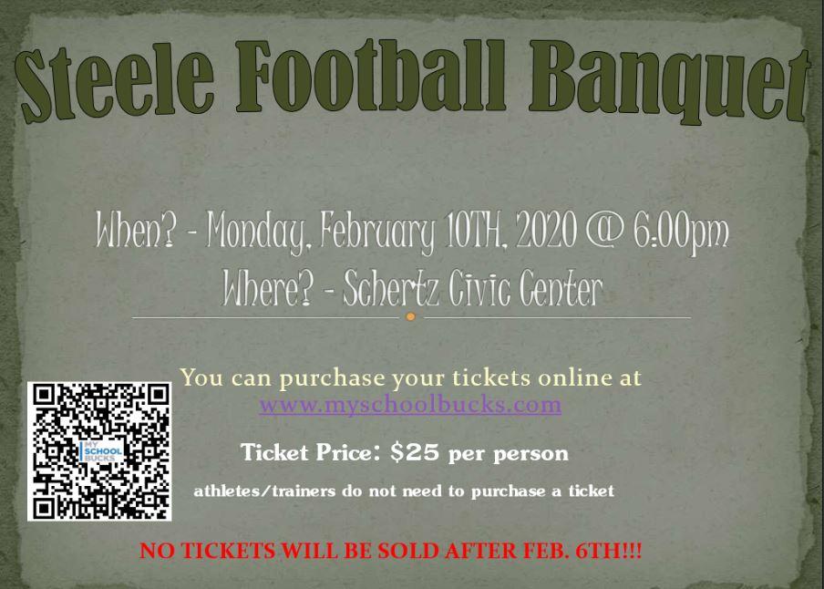 STEELE FOOTBALL BANQUET!!