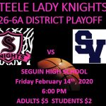 LADY KNIGHTS DISTRICT PLAYOFF INFO!!!