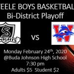 BOYS BASKETBALL – PLAYOFFS ROUND 1!!!