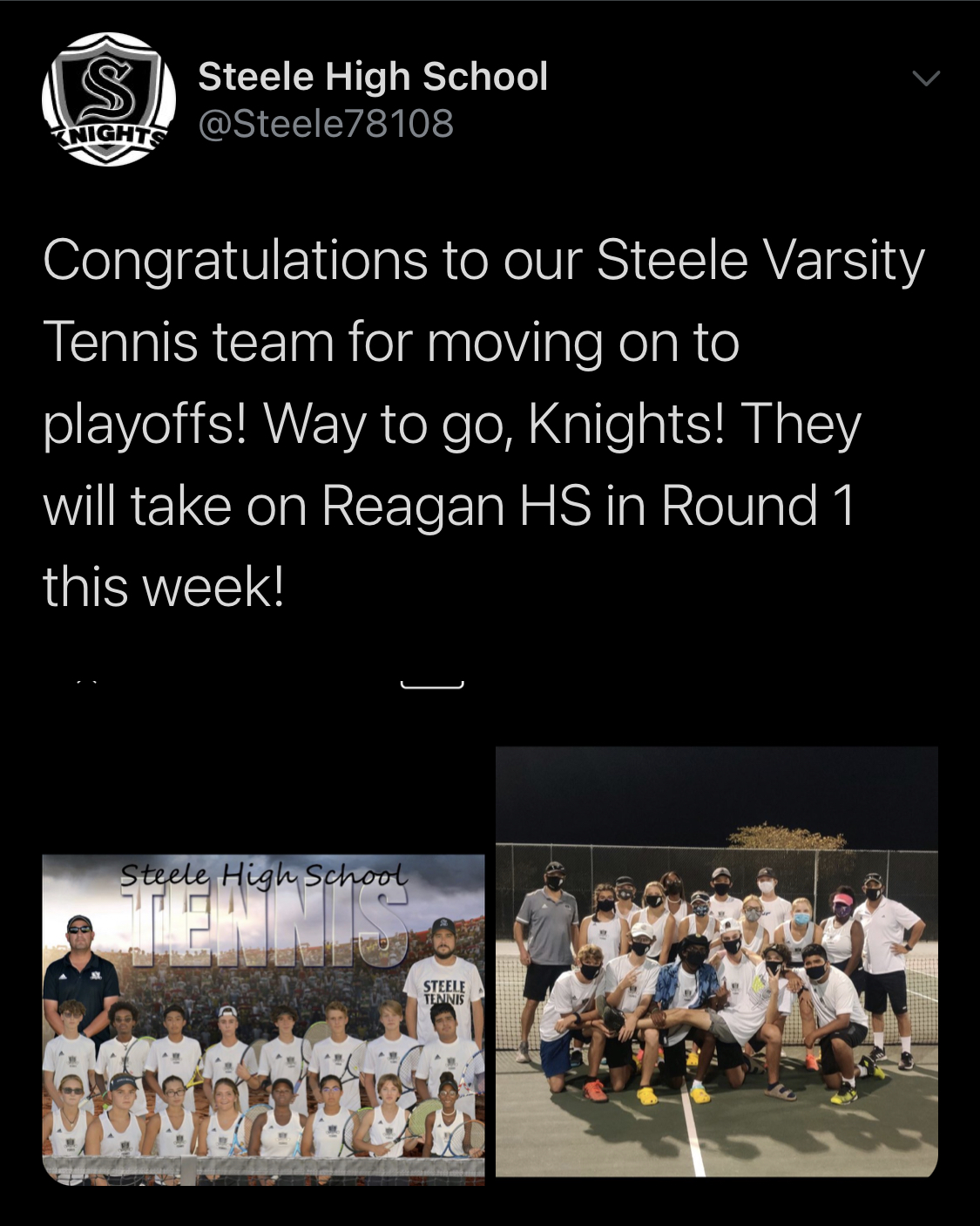 Steele Tennis Playoff Bound!!!!
