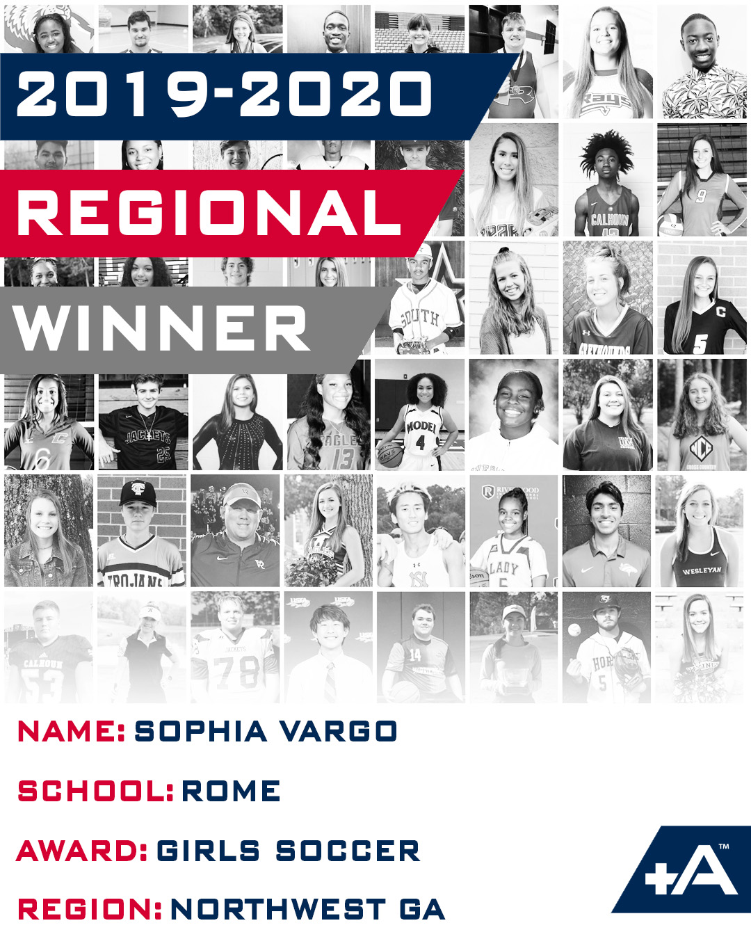 Positive Athlete Regional Winner Sophia Vargo