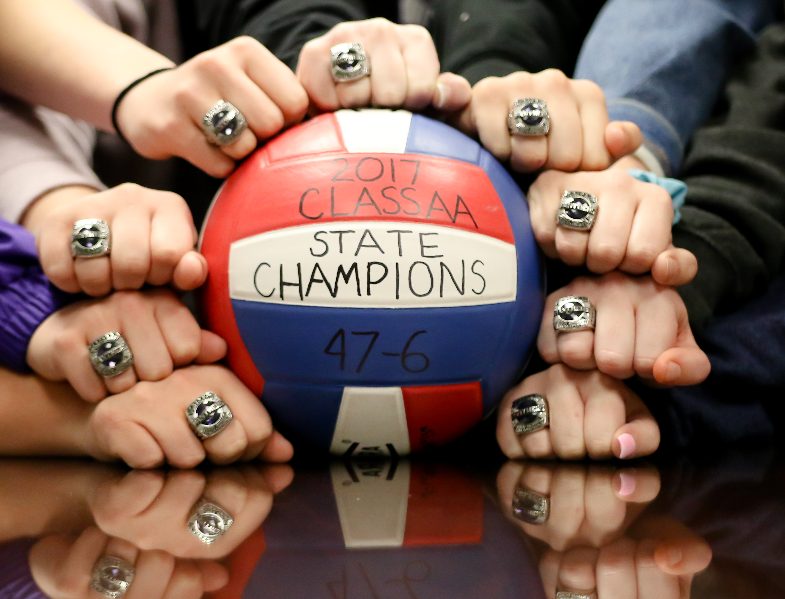Volleyball Receives Championship Rings