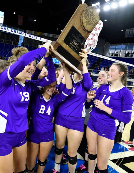 Portland Volleyball Repeats as AA State Champs