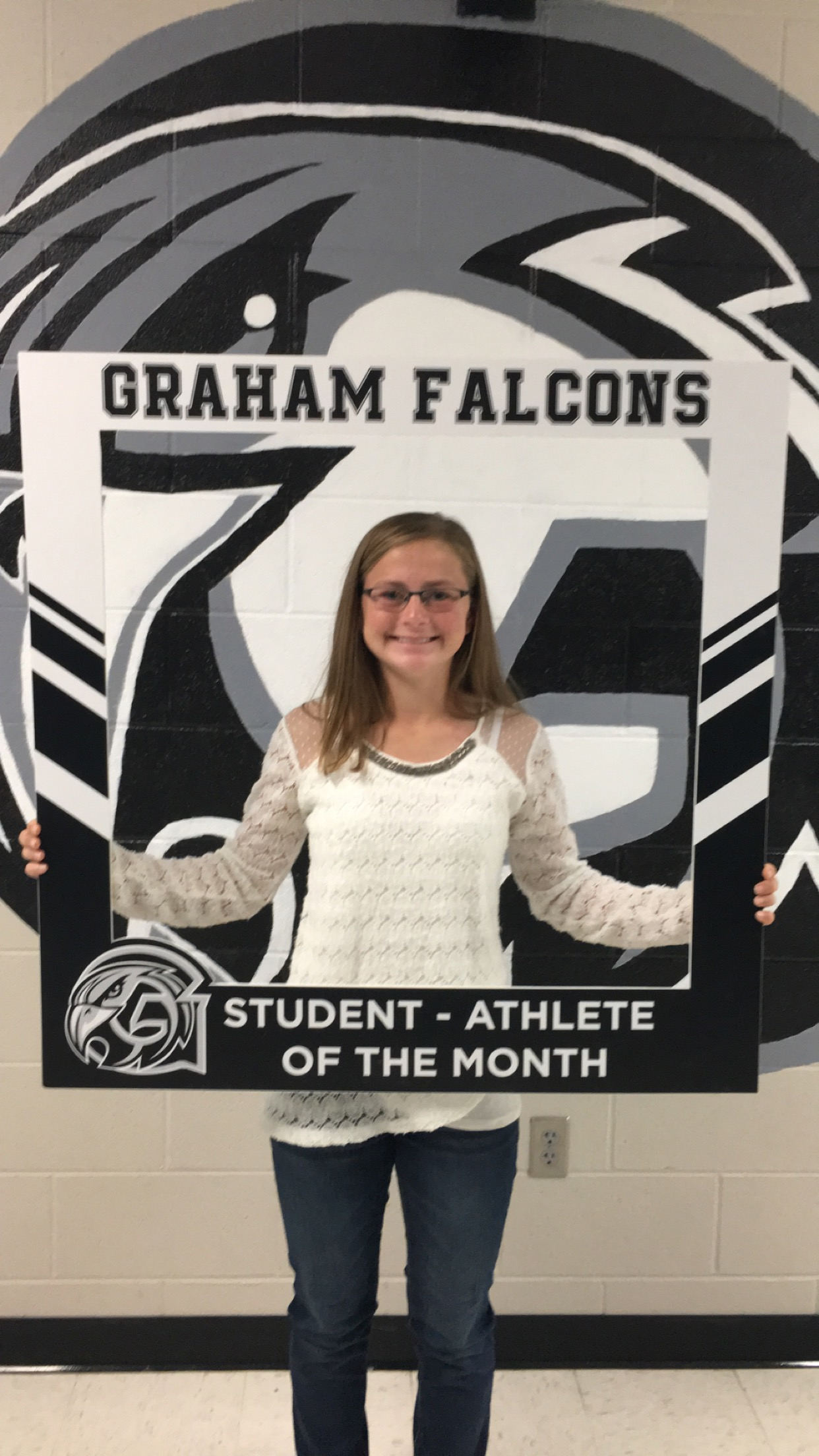 Congratulations to the October student-athlete of the month.. Lauran Bailey!
