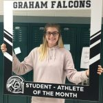 Congratulations to the October student-athlete of the month..Myah Isaac!!