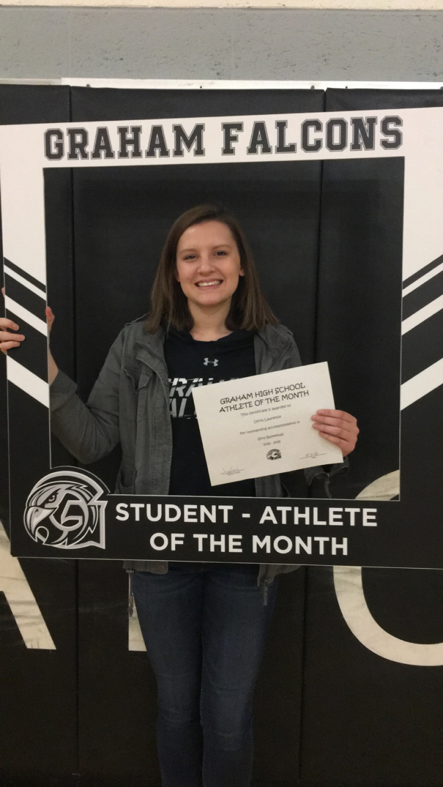 Congratulations to Olivia Lawrence- December student-athlete of the month!