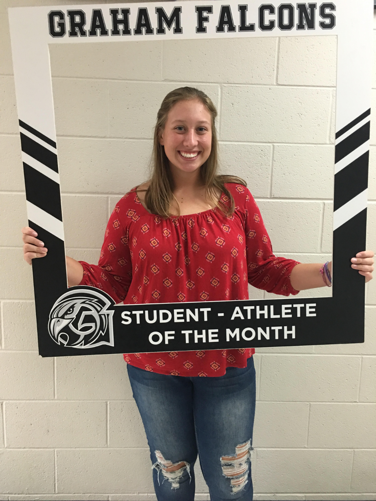 Congratulations to the September student-athlete of the month.. Morgan Pine!