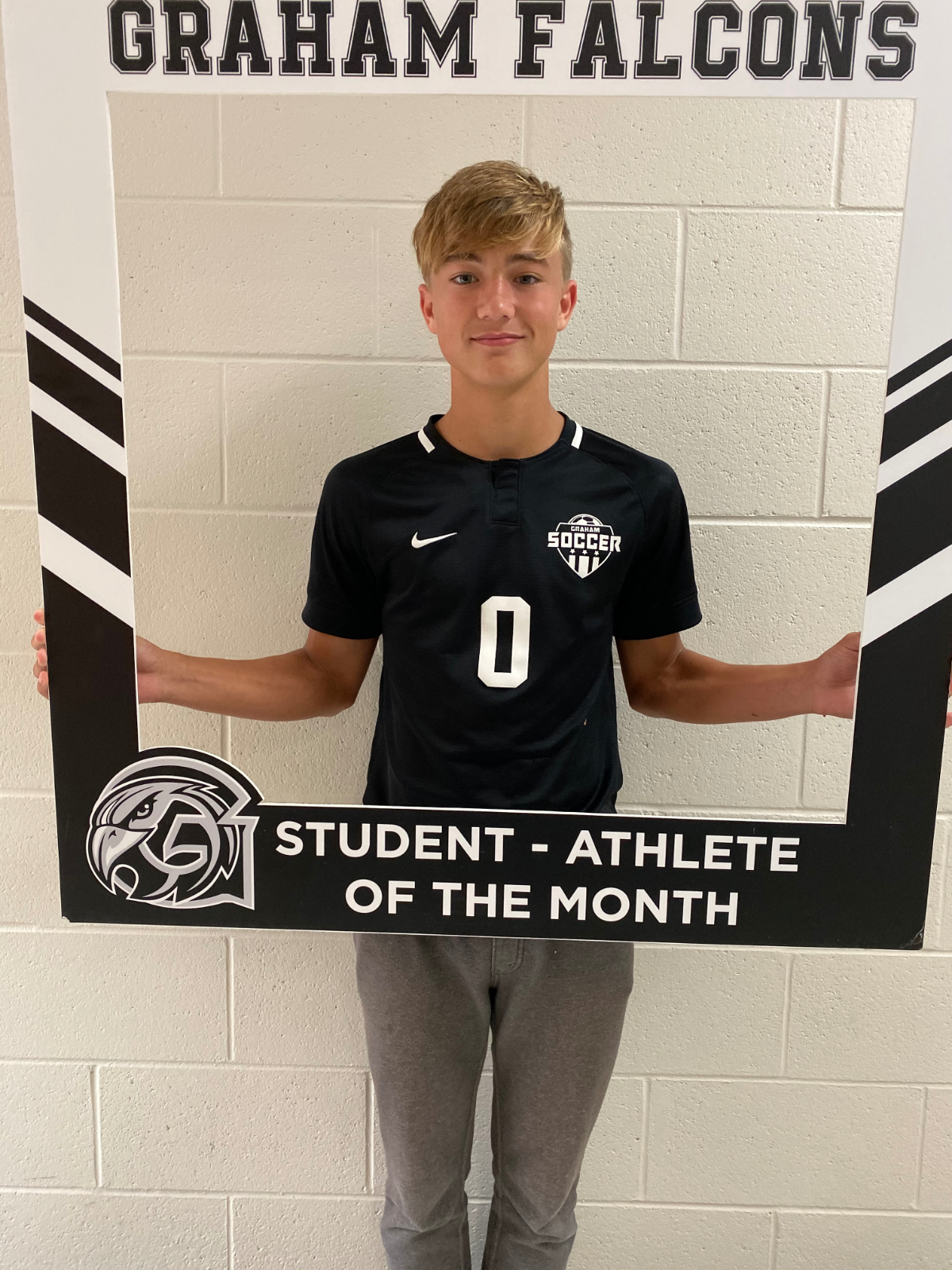 Congratulations Sean Brock- October student-athlete of the month