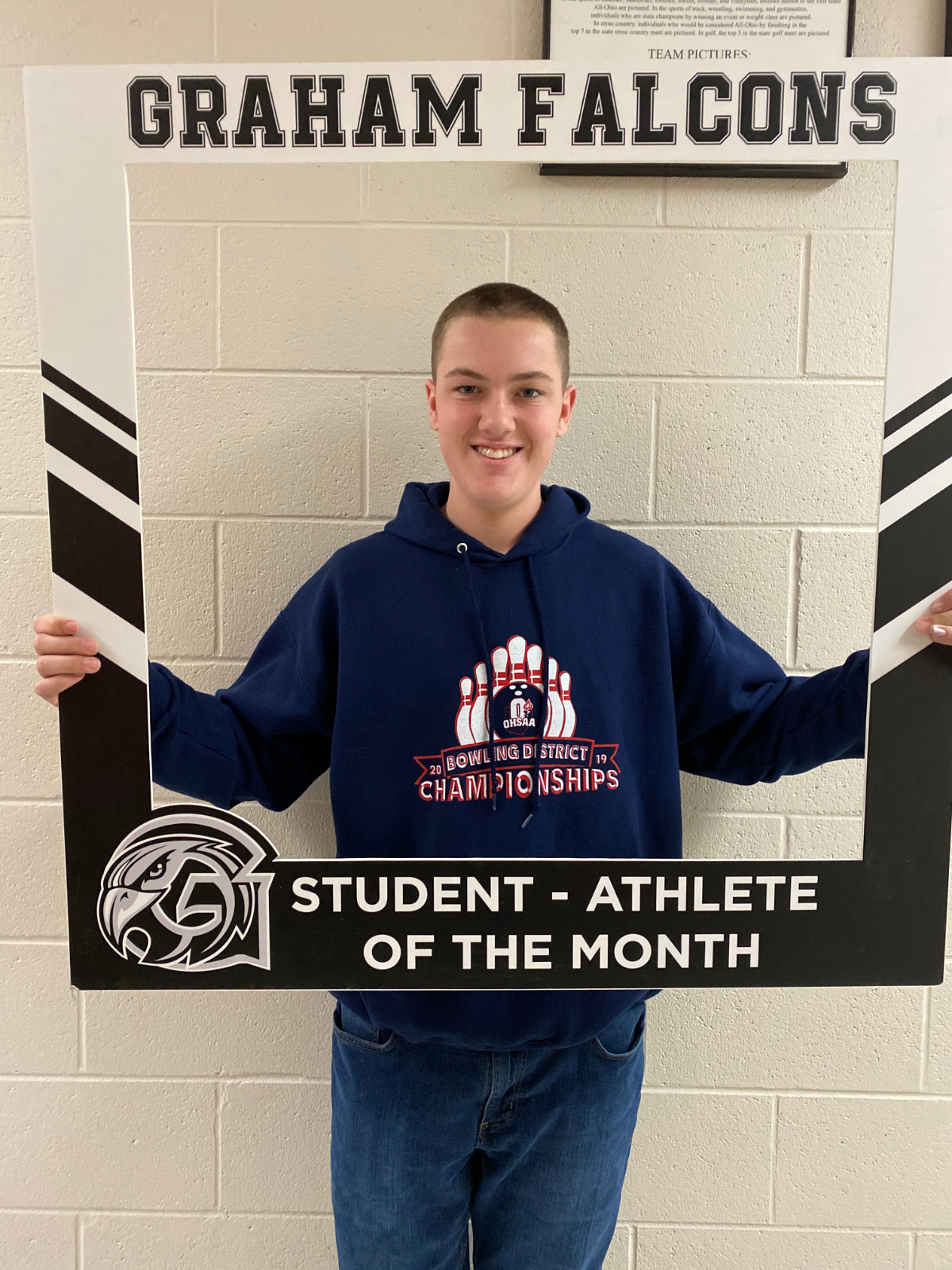 Congratulations to Jayden Tourney- January student-athlete of the month!