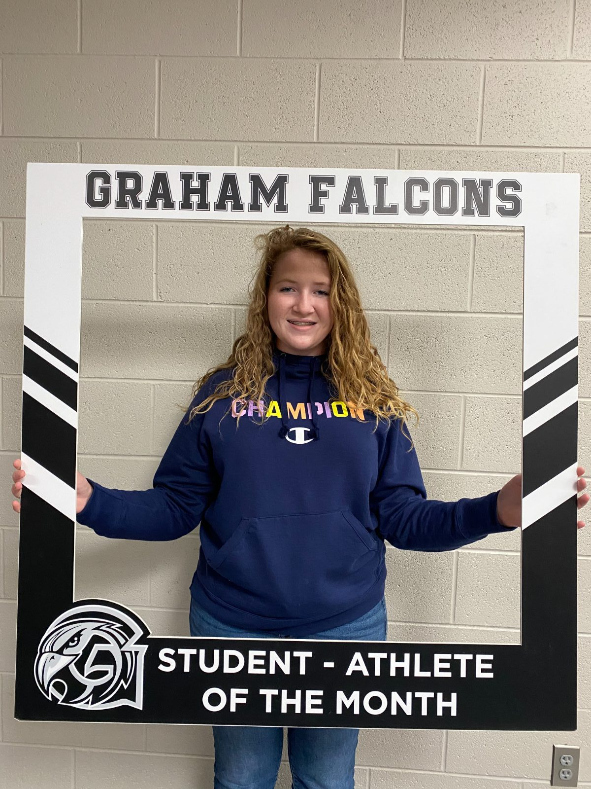 Congratulations to the September student-athlete of the month.. Abby Crisler!!