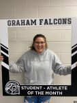 Congrats to Karissa Sanford- December student-athlete of the month!