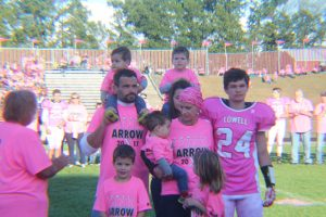 Pink Arrow X Football Game and Honoree Introductions (Photos by Mary Jo Buechler)