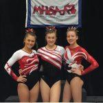 Girls Varsity Gymnastics finishes  at MHSAA Finals