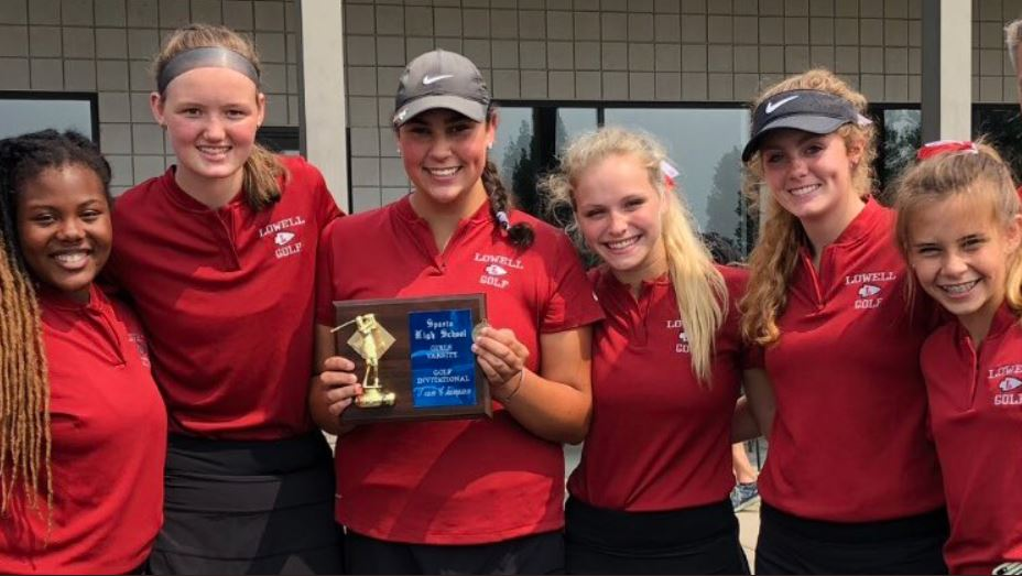 Lowell Varsity Golf finishes in 1st at Sparta Invitational