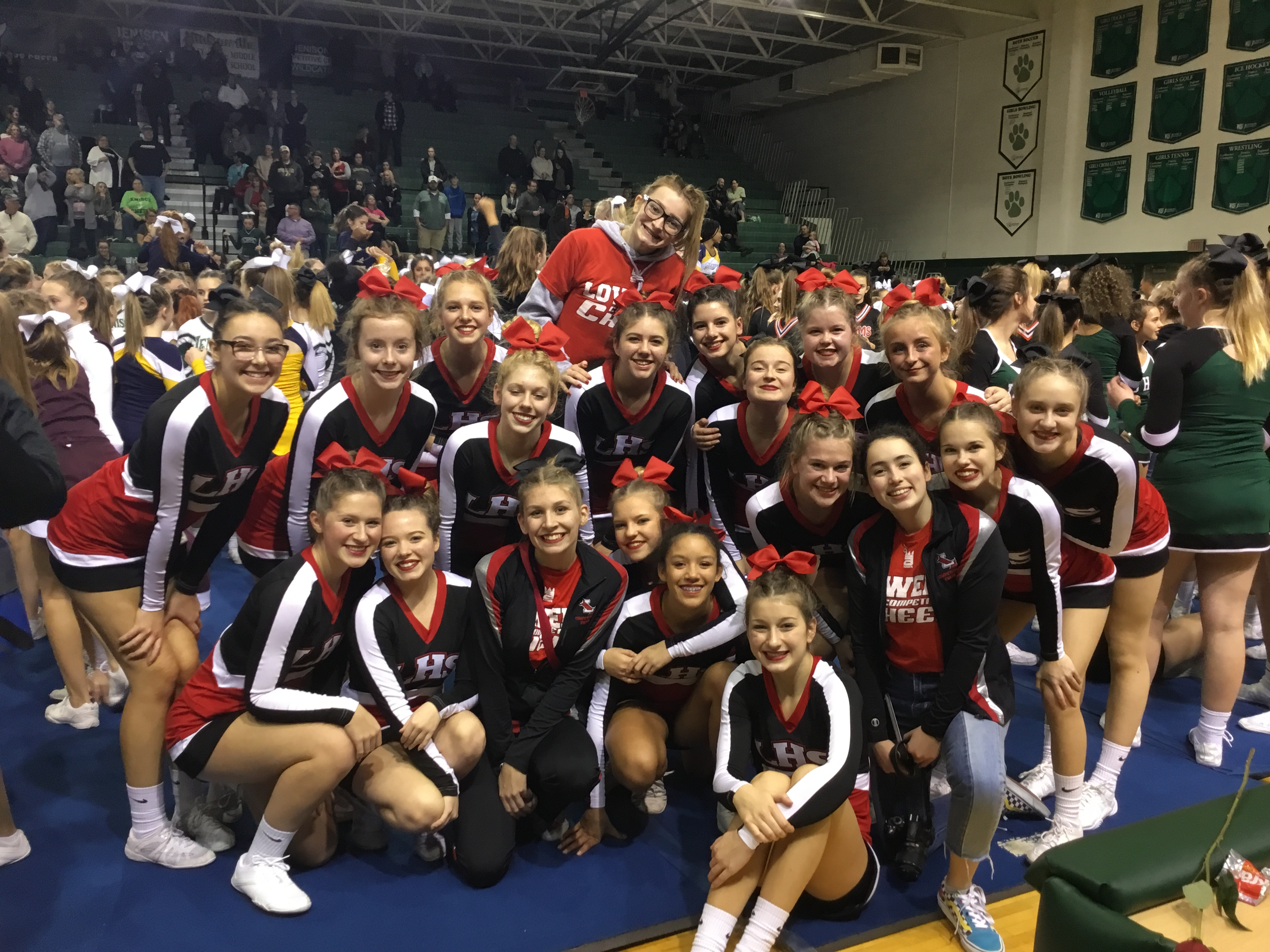 Varsity Competitive Cheer finishes 3rd at Jenison Invitational