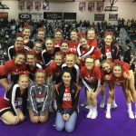 Varsity Competitive Cheer score their highest scores all season at LMCCOA