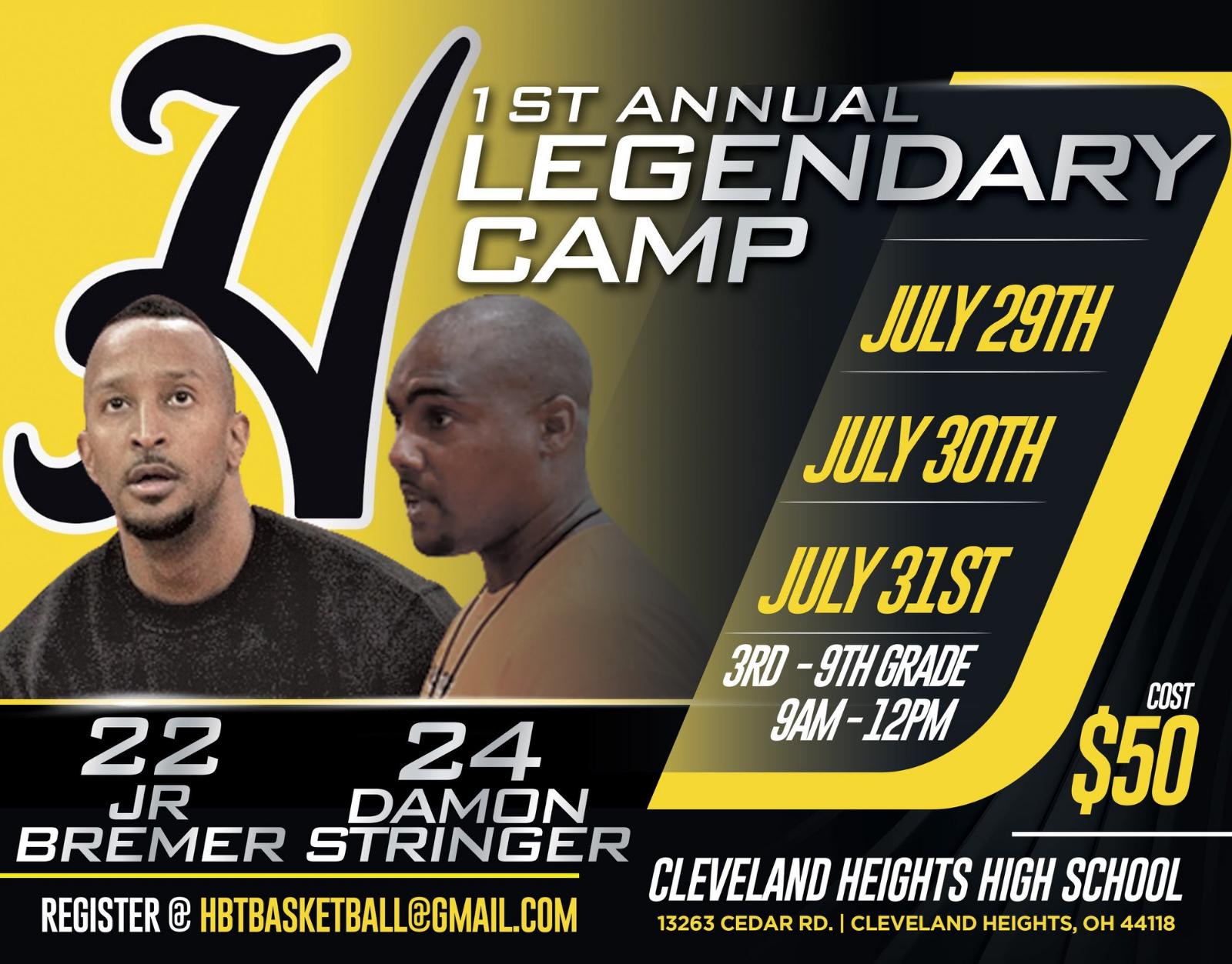 Boys Basketball Camp Hosted by JR Bremer & Damon Stringer