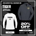 20% Off Tigers Apparel
