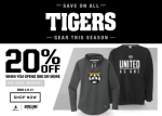 20% Off Heights Tigers Gear