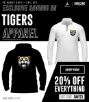 Save 20% on Heights Tigers Gear