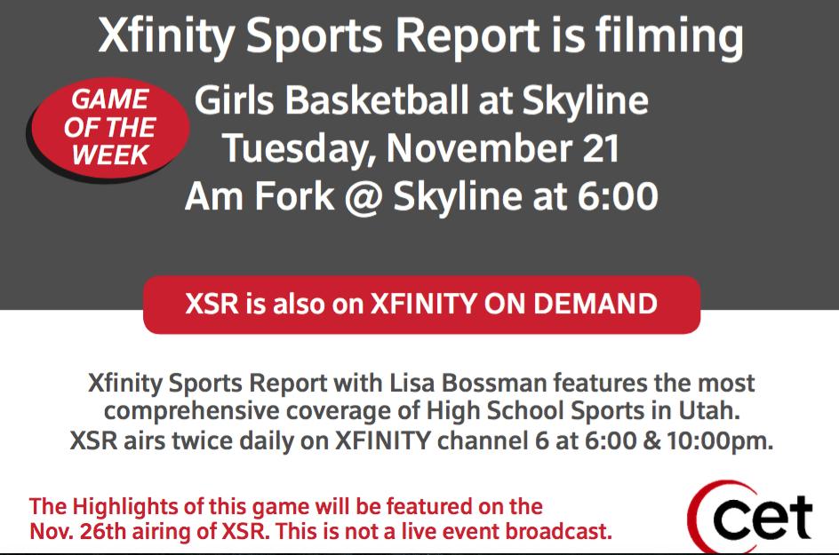 Girls Varsity Basketball Season Opener on 11/21 at Skyline High School
