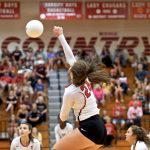 GAME PICS UP!  @THSCougarsVB vs @ConroeTigerVB – LADY COOGS WIN!