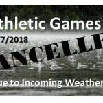 THS Athletic Games Cancelled for TODAY! (12/7/2018)