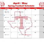 THS Spring Football Schedule!