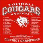COUGAR BASEBALL…20-5A DISTRICT CHAMPS!!!!