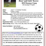 THS Boys' & Girls' Soccer Camp – June 3rd – 6th! Register Now!!