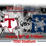 Patriotic Game – Cougars vs Wildcats – August 30th @ 7pm!