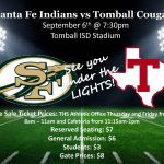 Santa Fe vs Tomball (9/6) – Varsity Football Game Tickets