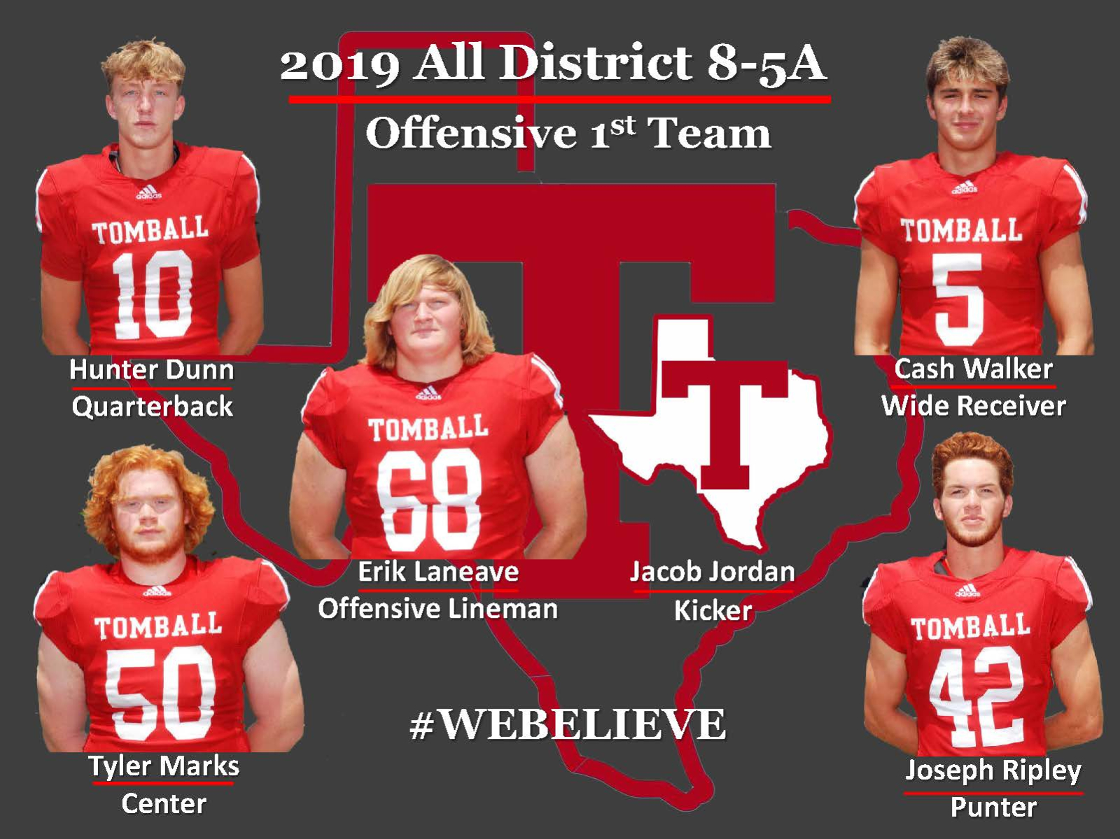 2019 All District 8-5A – Offensive 1st Team!