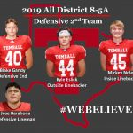 2019 All District 8-5A – Defensive 2nd Team!