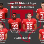 2019 All District 8-5A – Honorable Mention!