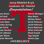 2019 Academic All District 8-5A!