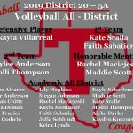 2019 Volleyball All District Selections!