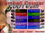 Tomball Cougar Football Schedule – 2020!