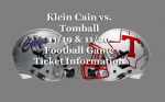 Cougar Football vs. Klein Cain Hurricanes – Ticketing Information