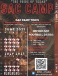 SAC Camp Schedule 2021