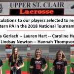USC Girls Lacrosse Players Selected to 2018 National Tournament