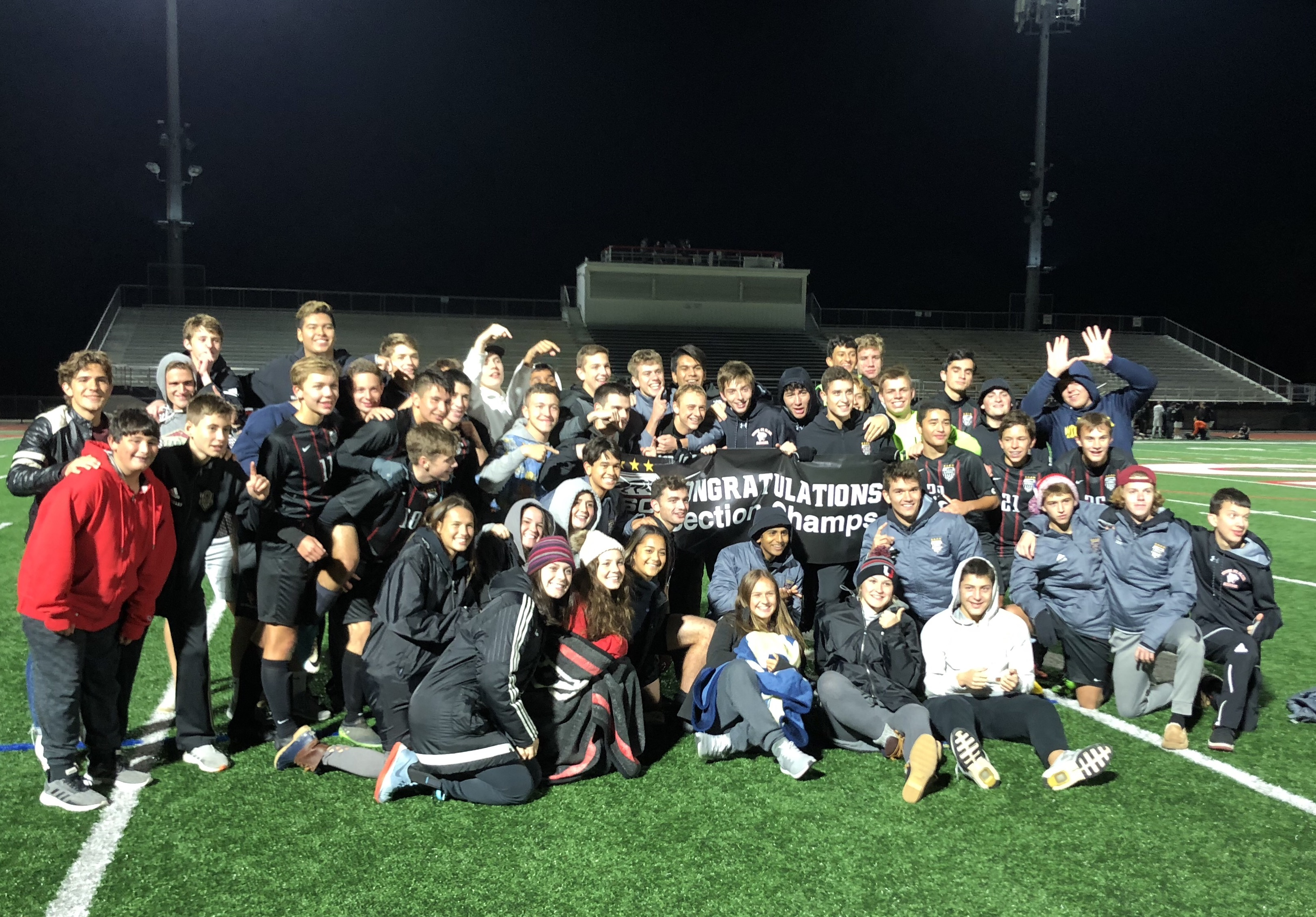 USC Boys Soccer – Section Champions
