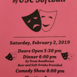 "USC Girls Softball ""Comedy Night"" Fundraiser Date Is Set"