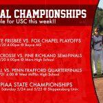 Upper St. Clair Playoff Schedule This Week
